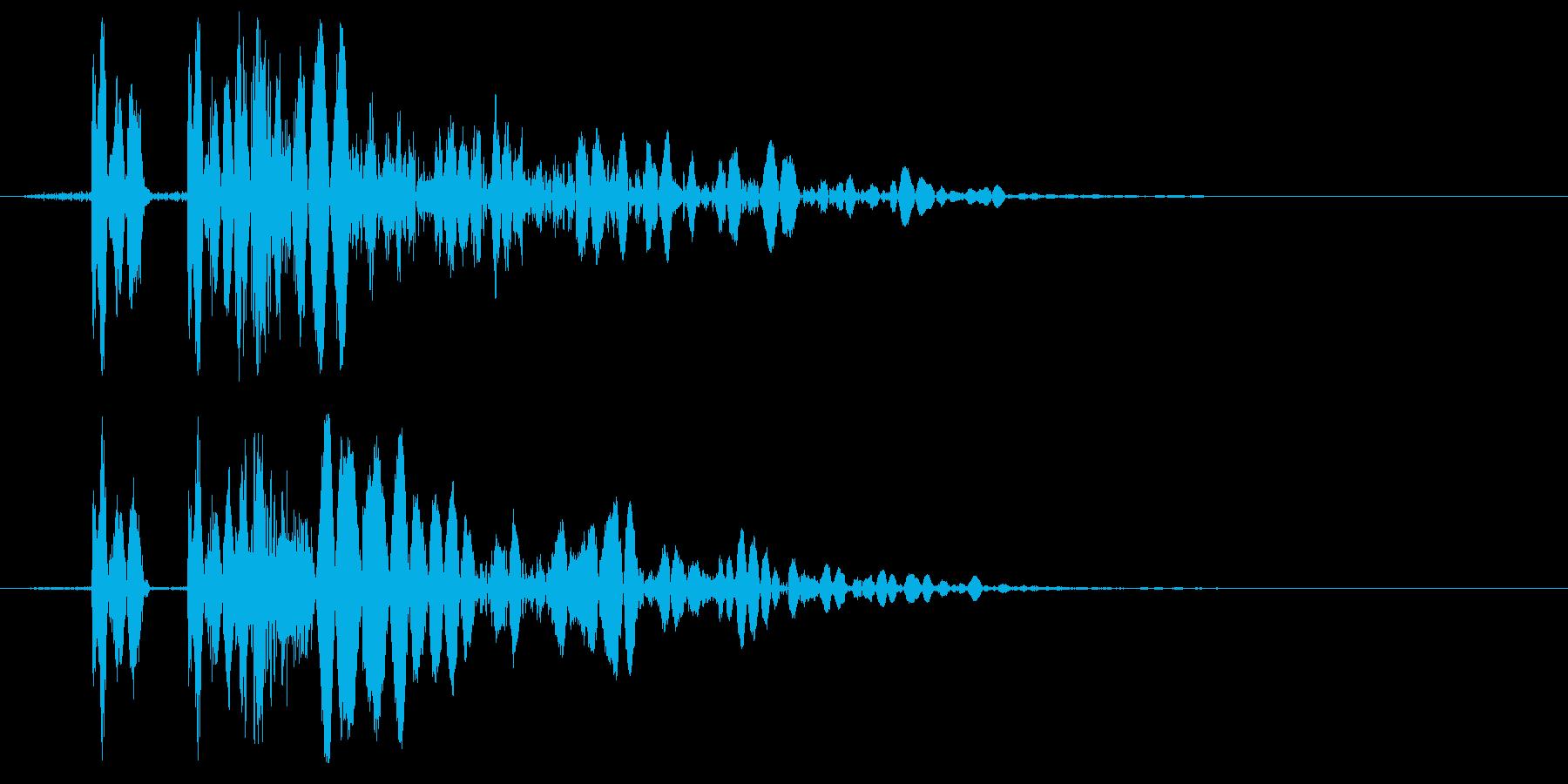EDM/IDM系の埋もれないバスドラム2の再生済みの波形