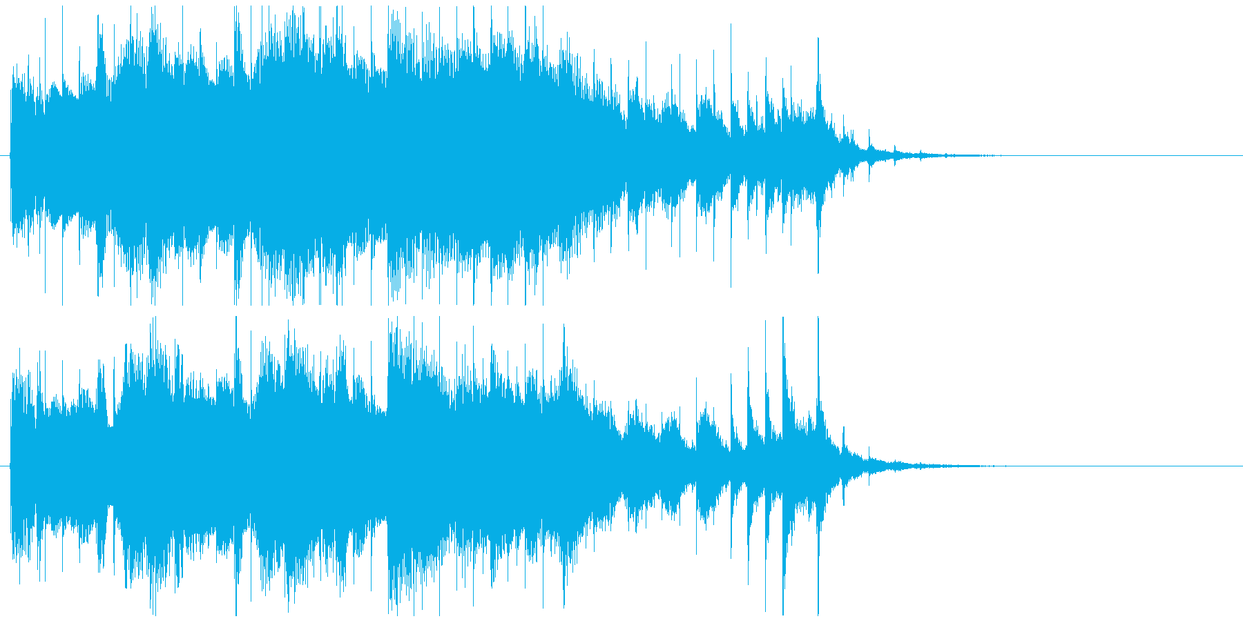 オープニング企業ジングル おしゃれジャズの再生済みの波形