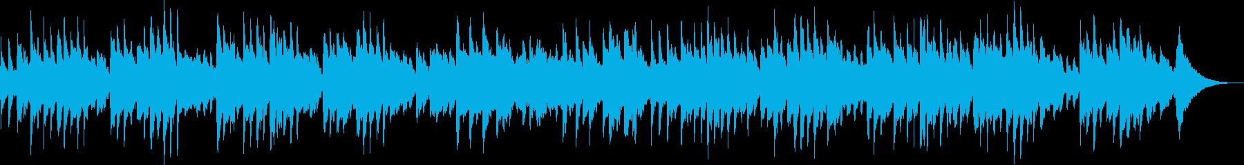 オルゴールの可愛い曲の再生済みの波形