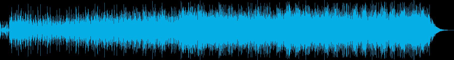 3分BGM ピアノと環境音の再生済みの波形