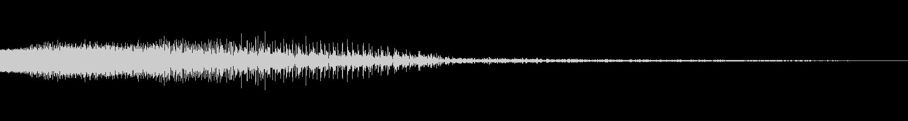 レーザー音の未再生の波形