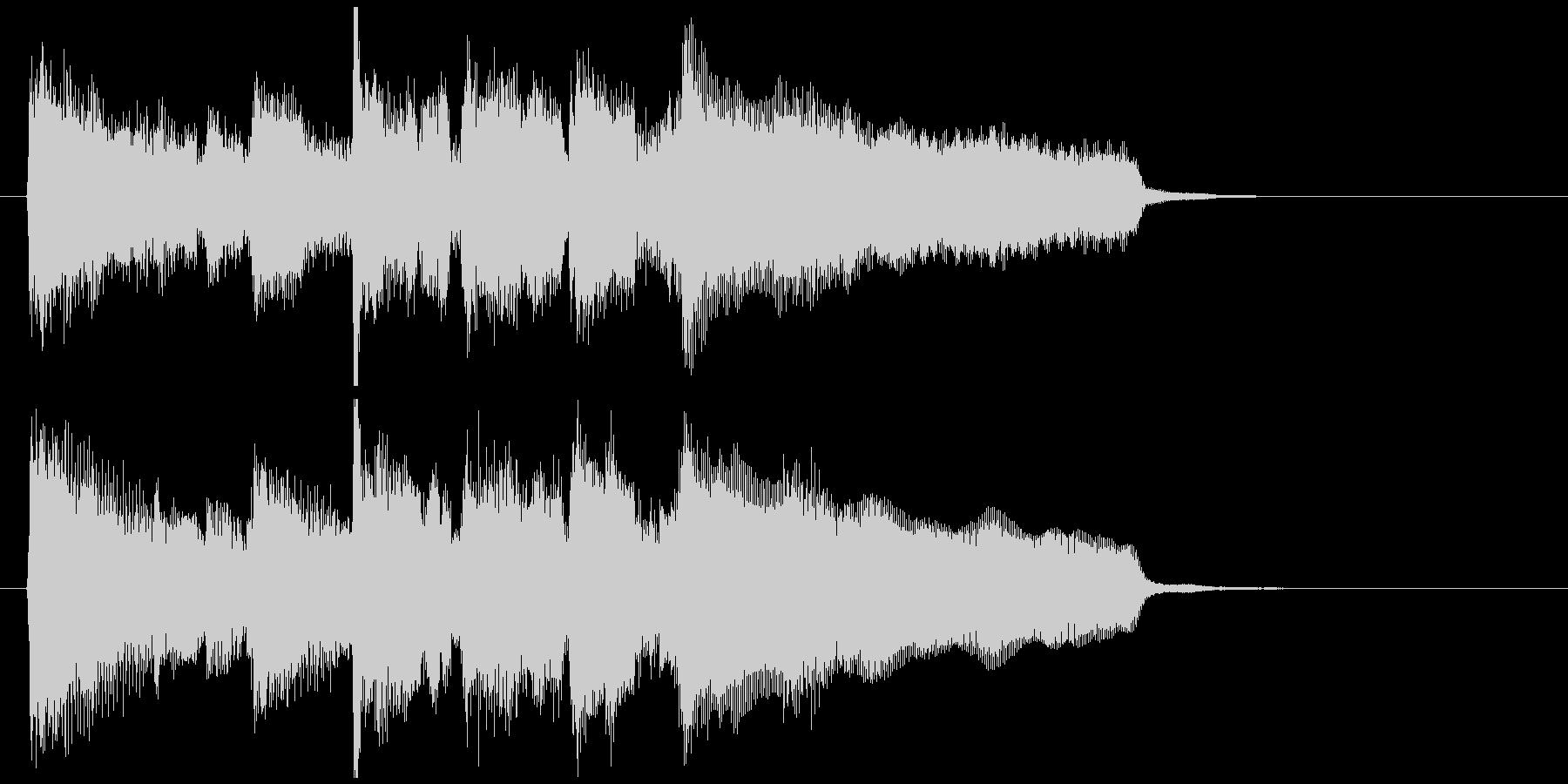 エピローグ的な穏やかワルツのジングルの未再生の波形