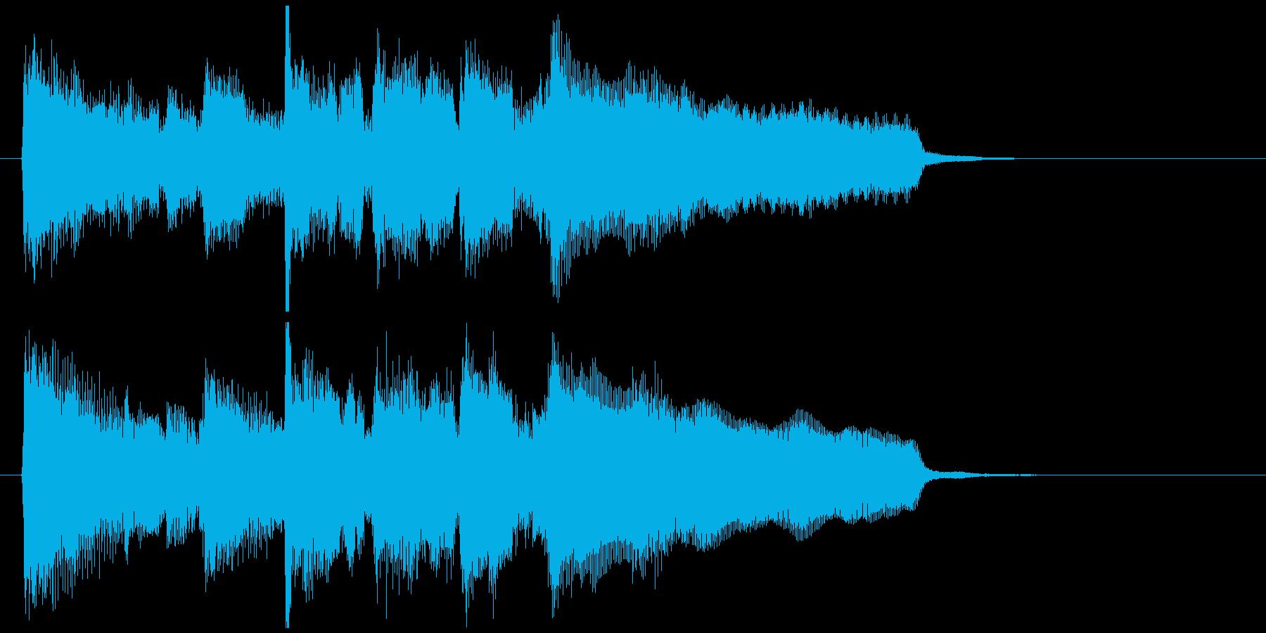 エピローグ的な穏やかワルツのジングルの再生済みの波形