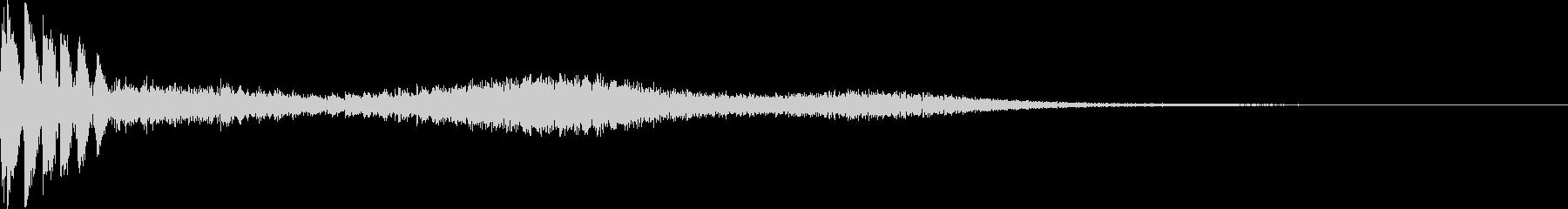 キャンセル音(バシュー)の未再生の波形