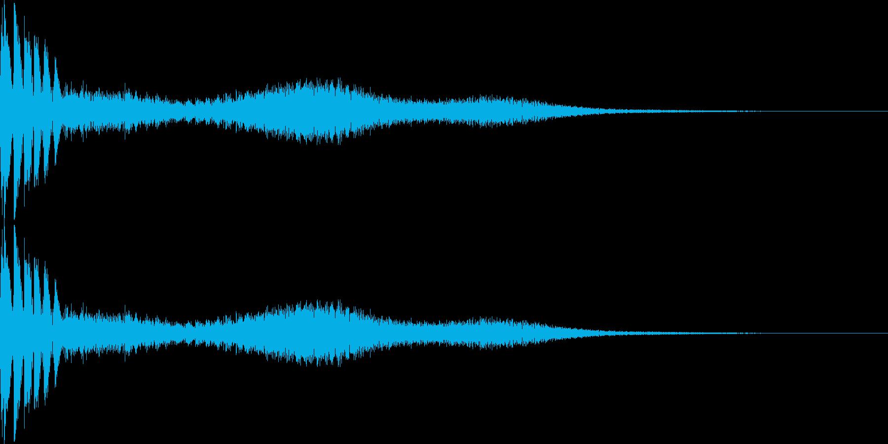 キャンセル音(バシュー)の再生済みの波形