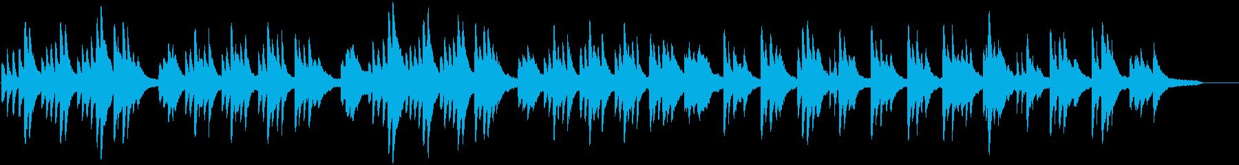 ピアノの優しい曲02の再生済みの波形