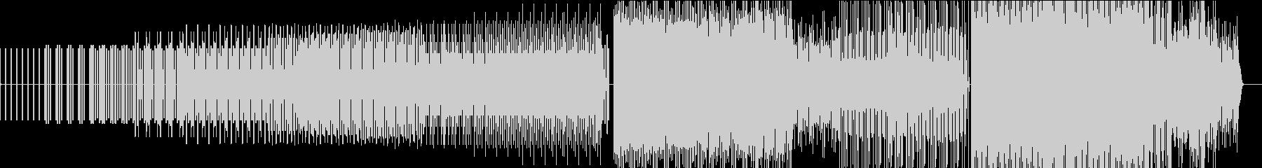 ミニマルな電子音とリズムの未再生の波形