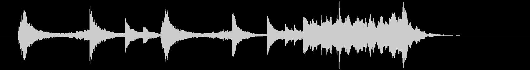 琴・ピアノを使った和風のアテンション2の未再生の波形