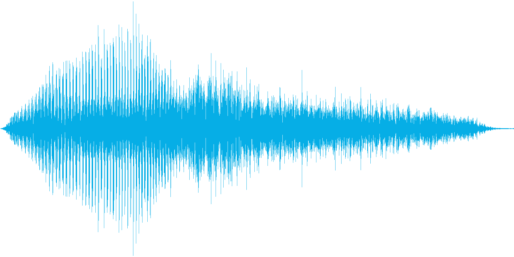 イエス!女の子の声の再生済みの波形