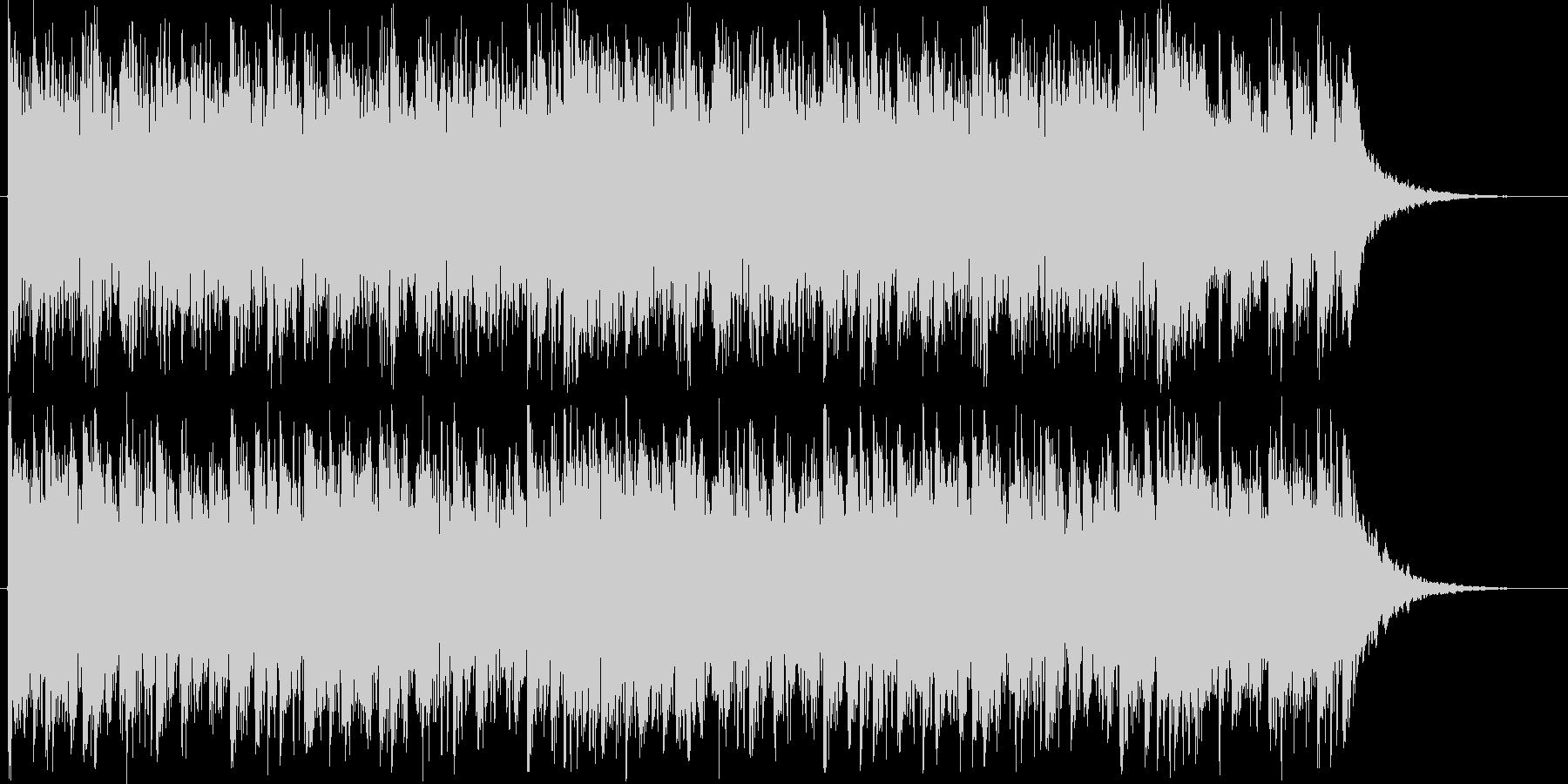 ロック、オーケストラ、リズムの融合ロゴの未再生の波形