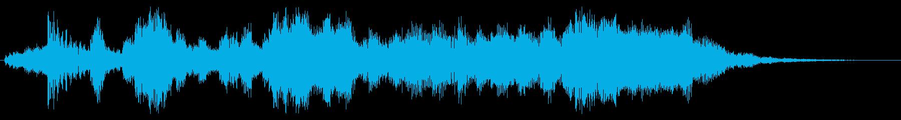 RPG風ファンファーレ(オーケストラ風)の再生済みの波形
