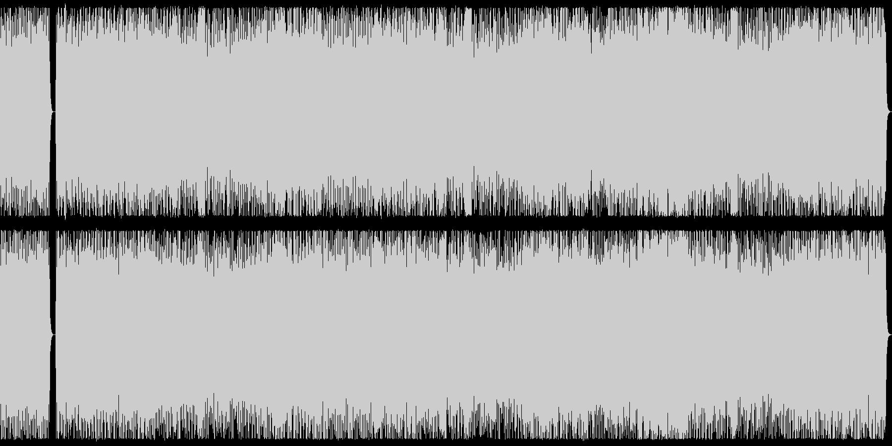 勇壮、ダークな3連系リズムのメタルBGMの未再生の波形