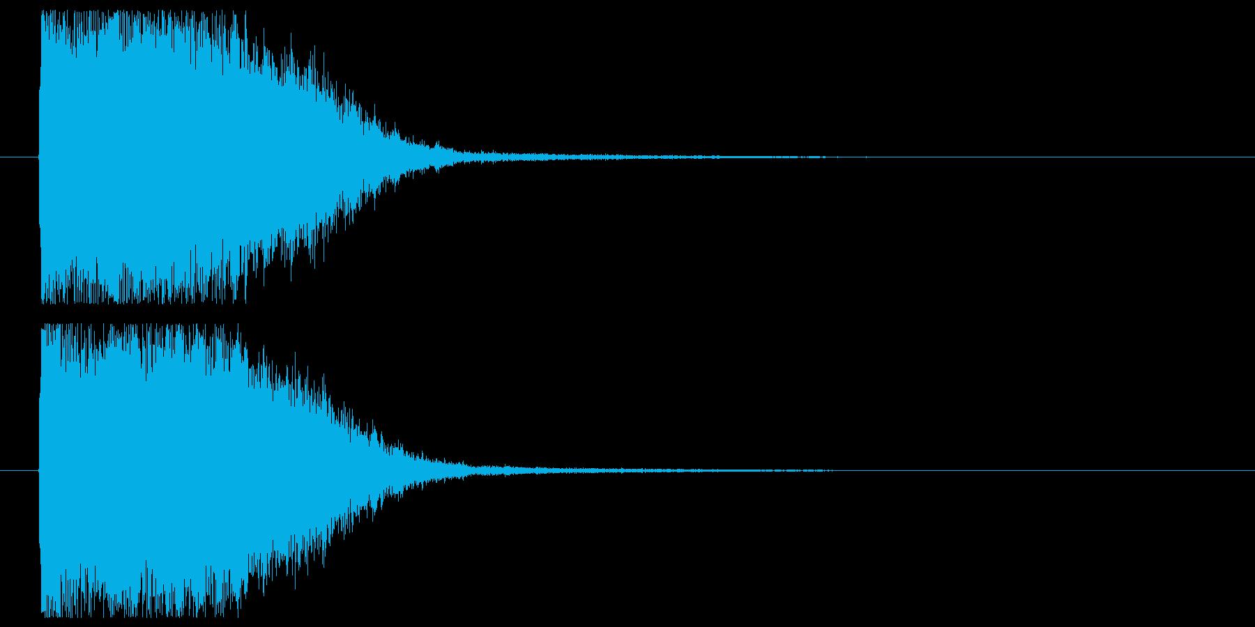 光りインパクト_魔法効果の再生済みの波形