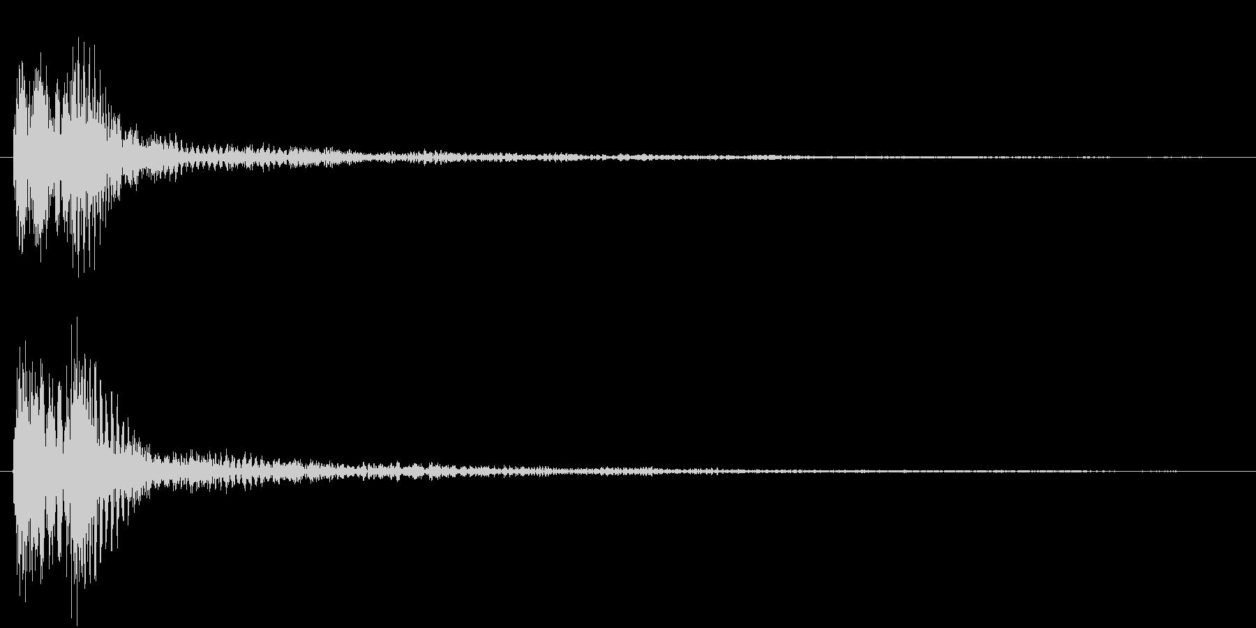 ピアノとマリンバの音の未再生の波形