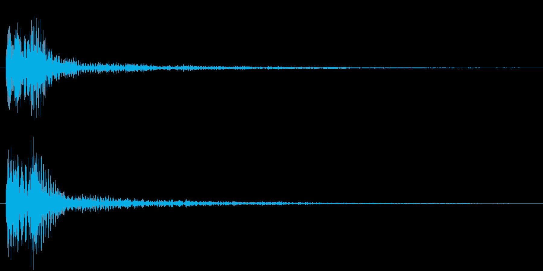 ピアノとマリンバの音の再生済みの波形