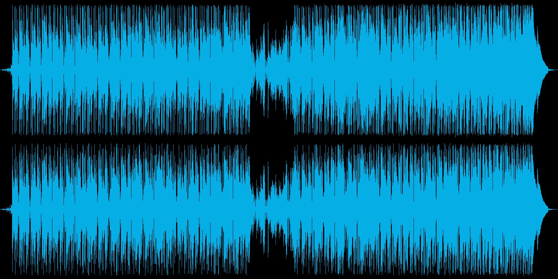 緊張感のあるクールなファンクBGMの再生済みの波形