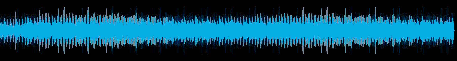 平和でほのぼのした雰囲気のBGMの再生済みの波形