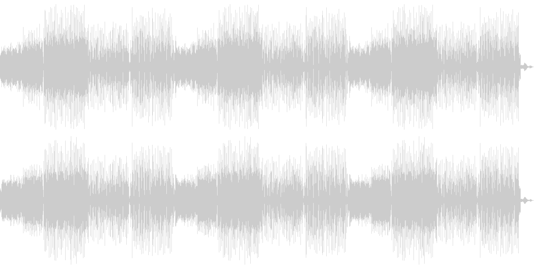 閉店BGM向け蛍の光アレンジ音素材02の未再生の波形