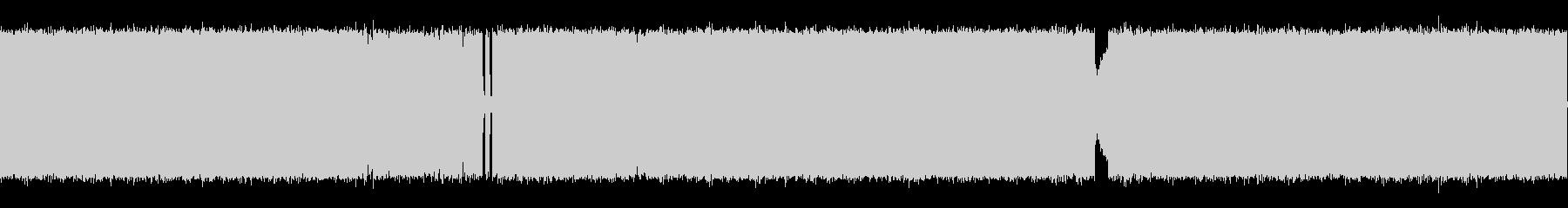 メカニカルなシンセとギターリフ。激しめ…の未再生の波形