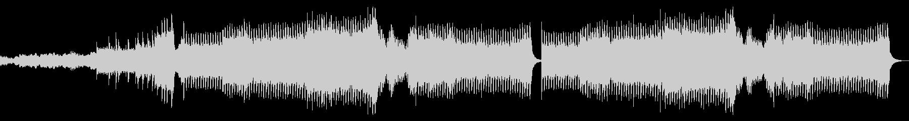 ゲームの最終決戦前に流れるようなBGMの未再生の波形
