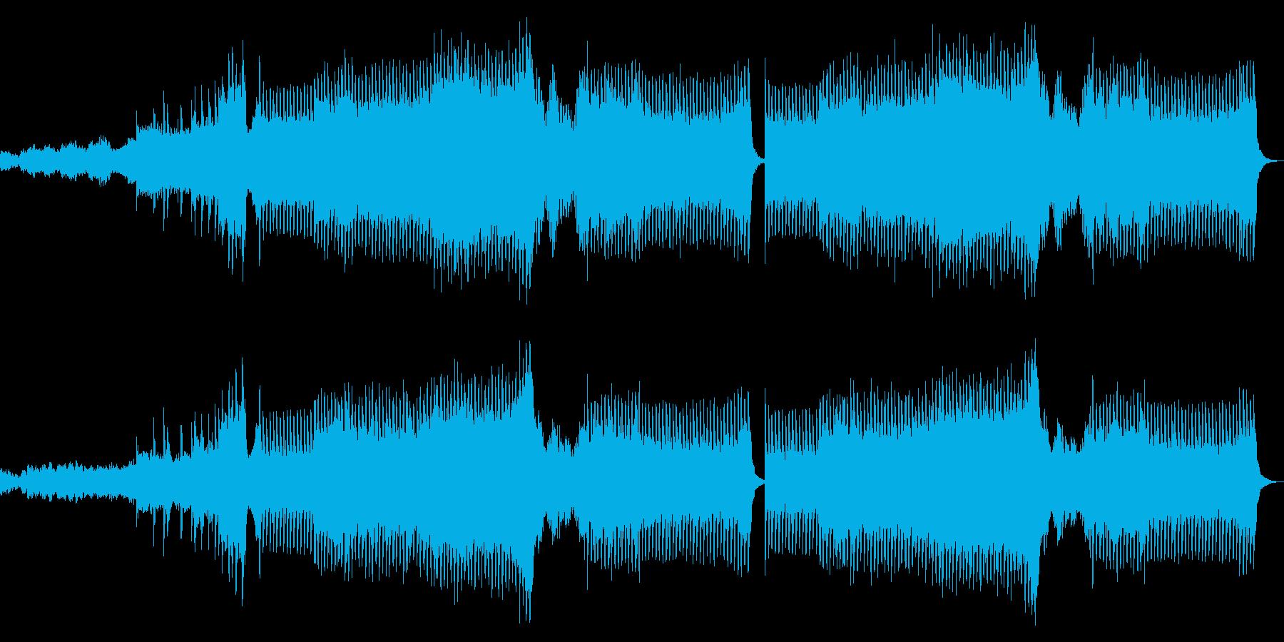 ゲームの最終決戦前に流れるようなBGMの再生済みの波形