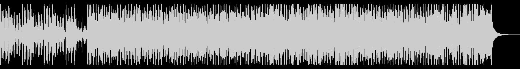 ノリノリで盛り上がりのあるジャズサンバの未再生の波形