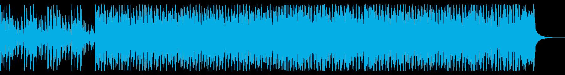 ノリノリで盛り上がりのあるジャズサンバの再生済みの波形