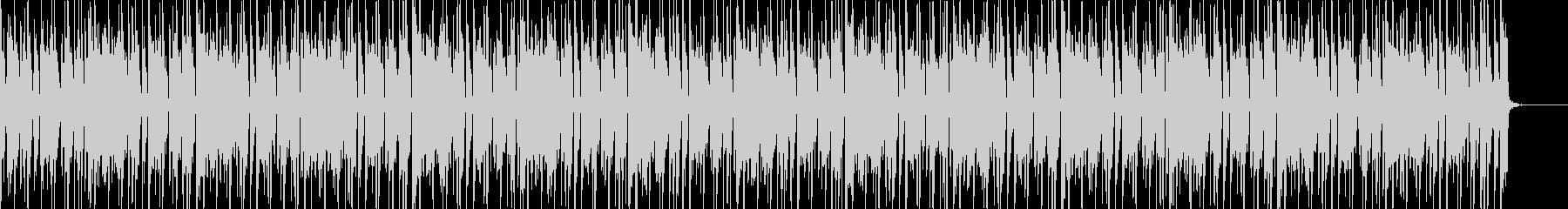 クラビネットとブラスのファンクBGMの未再生の波形