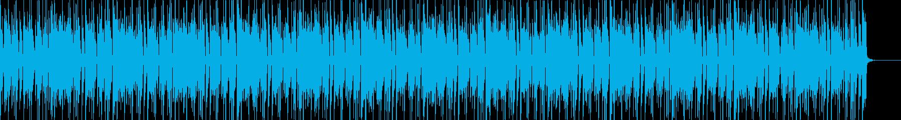 クラビネットとブラスのファンクBGMの再生済みの波形