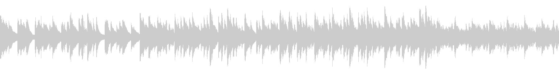 [Loop]物悲しいピアノヒーリングの未再生の波形