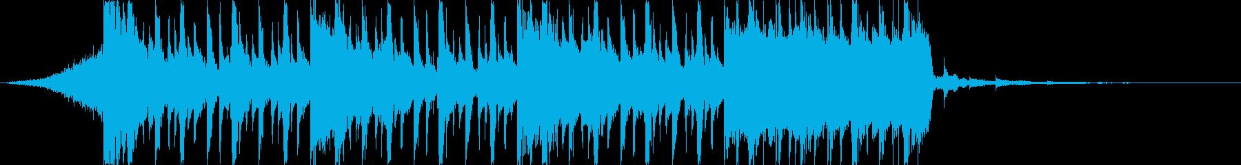 企業VP向け、爽やかポップ4つ打ち7-3の再生済みの波形