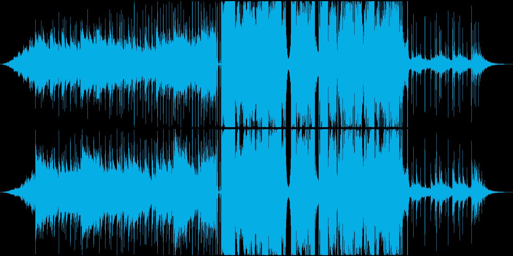 ゆったりクールなシンセサウンドの再生済みの波形