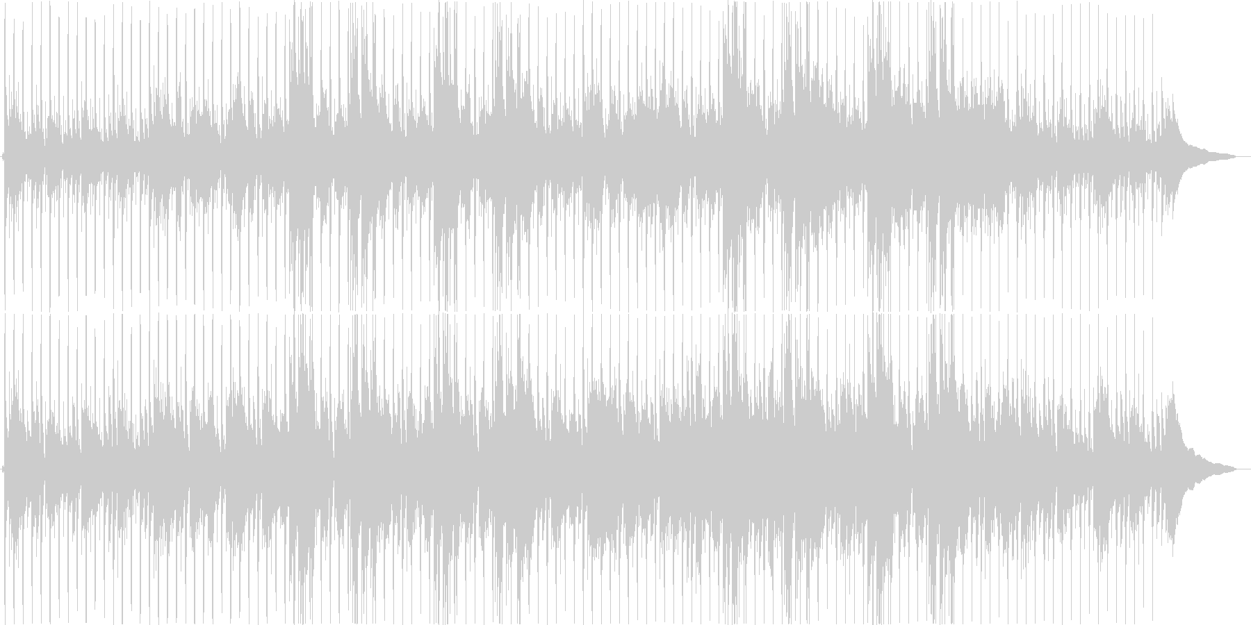 アコースティックなまったりポップスの未再生の波形