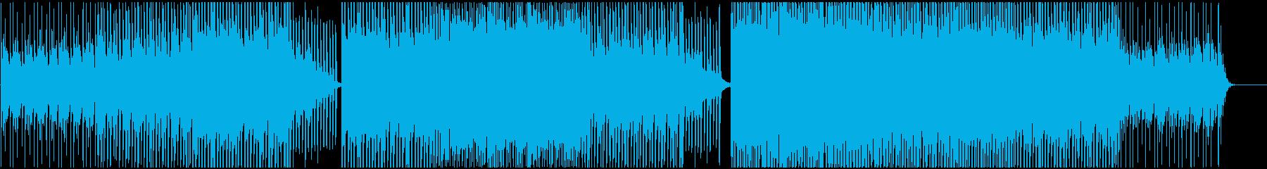 明るく前向きイメージの再生済みの波形