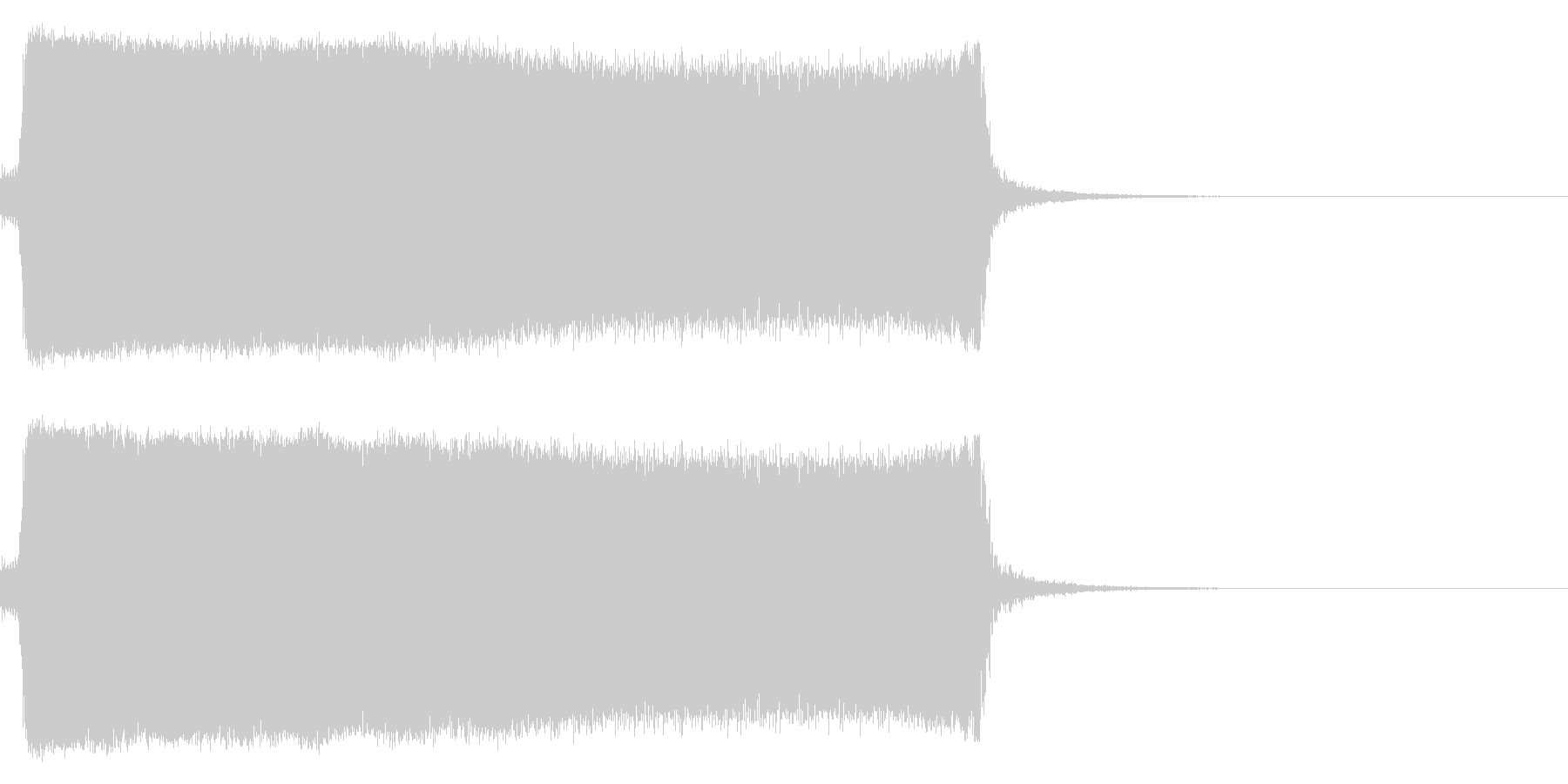 汽笛の音3 長め ポー 列車の未再生の波形