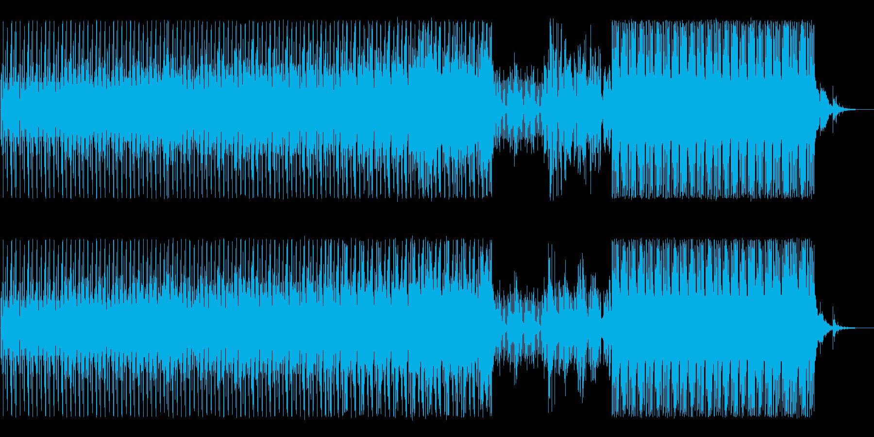 焦りを催す不気味で不穏なエレクトロニカの再生済みの波形