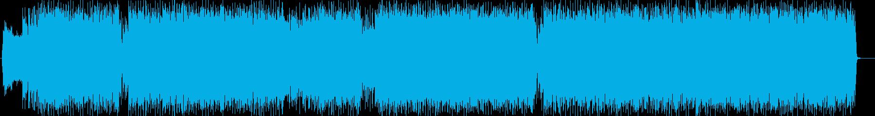 クールでエッジの効いたロックな曲の再生済みの波形