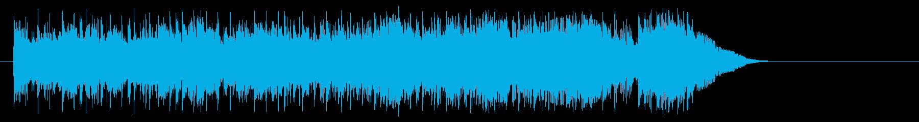 好奇心旺盛なポップ(サビ~エンディング)の再生済みの波形