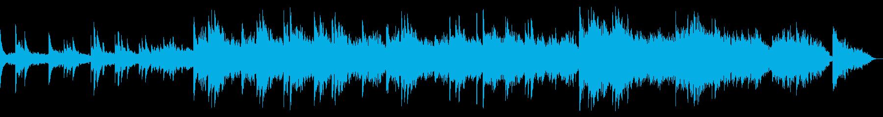 邪魔せず静かに彩るピアノコーラスバラードの再生済みの波形