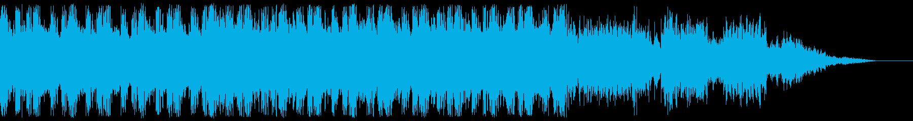 近未来的、クールなデジタルサウンドの再生済みの波形