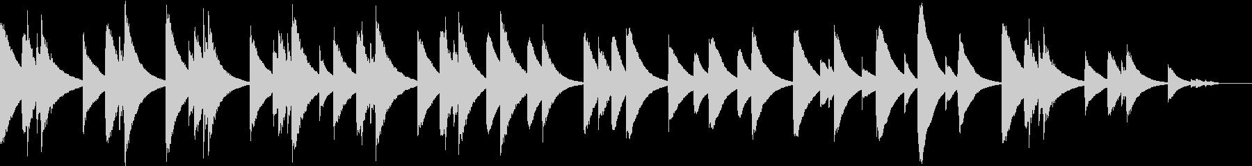 オルゴール調の悲しい雰囲気の未再生の波形