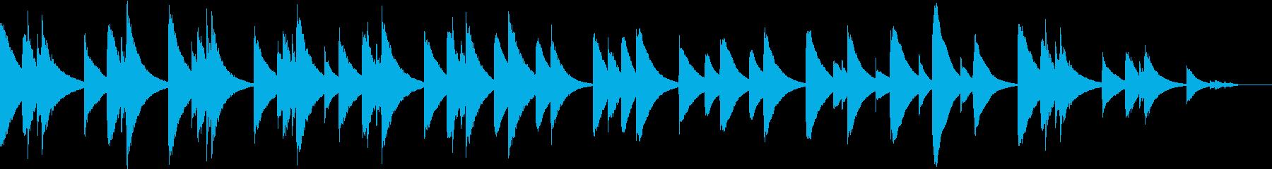 オルゴール調の悲しい雰囲気の再生済みの波形
