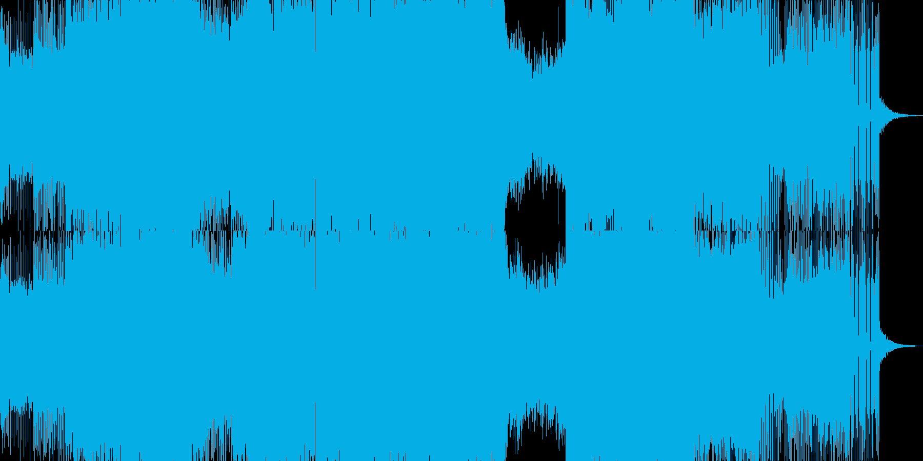 トランス EDM 展開あるクラブBGM の再生済みの波形