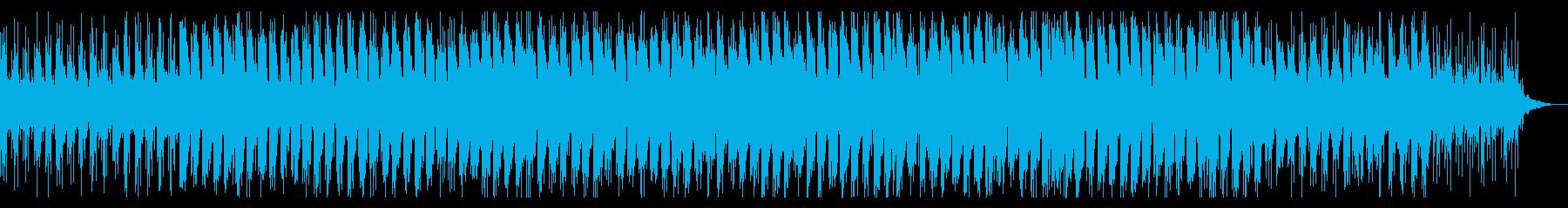 深夜のドライブ、夜間飛行で流れるBGMの再生済みの波形