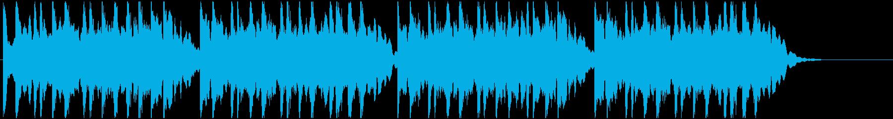 蛍の光のベルの再生済みの波形