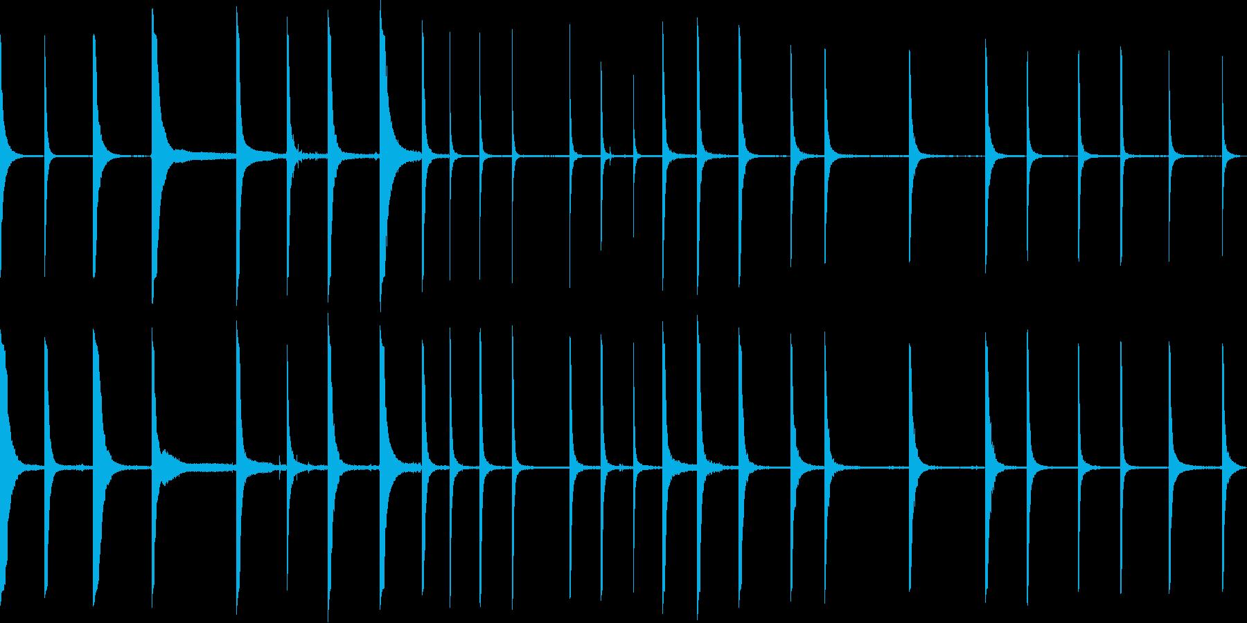 さまざまな金属クランクpingの再生済みの波形