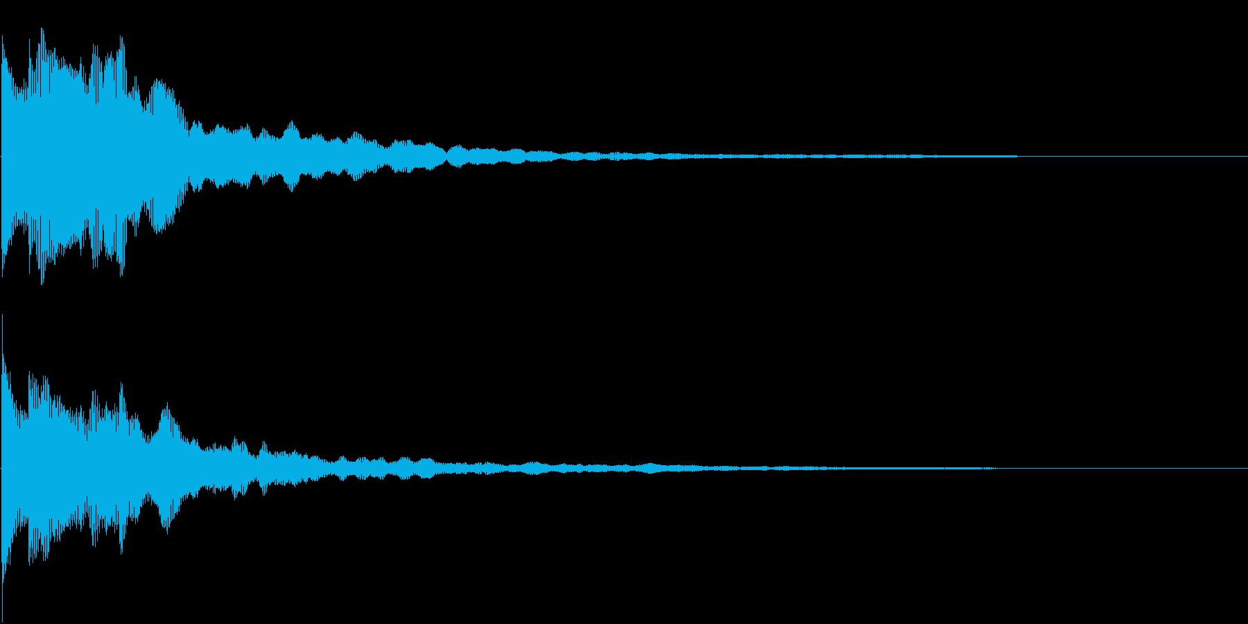 クリック キラリン 明るい 決定 13の再生済みの波形
