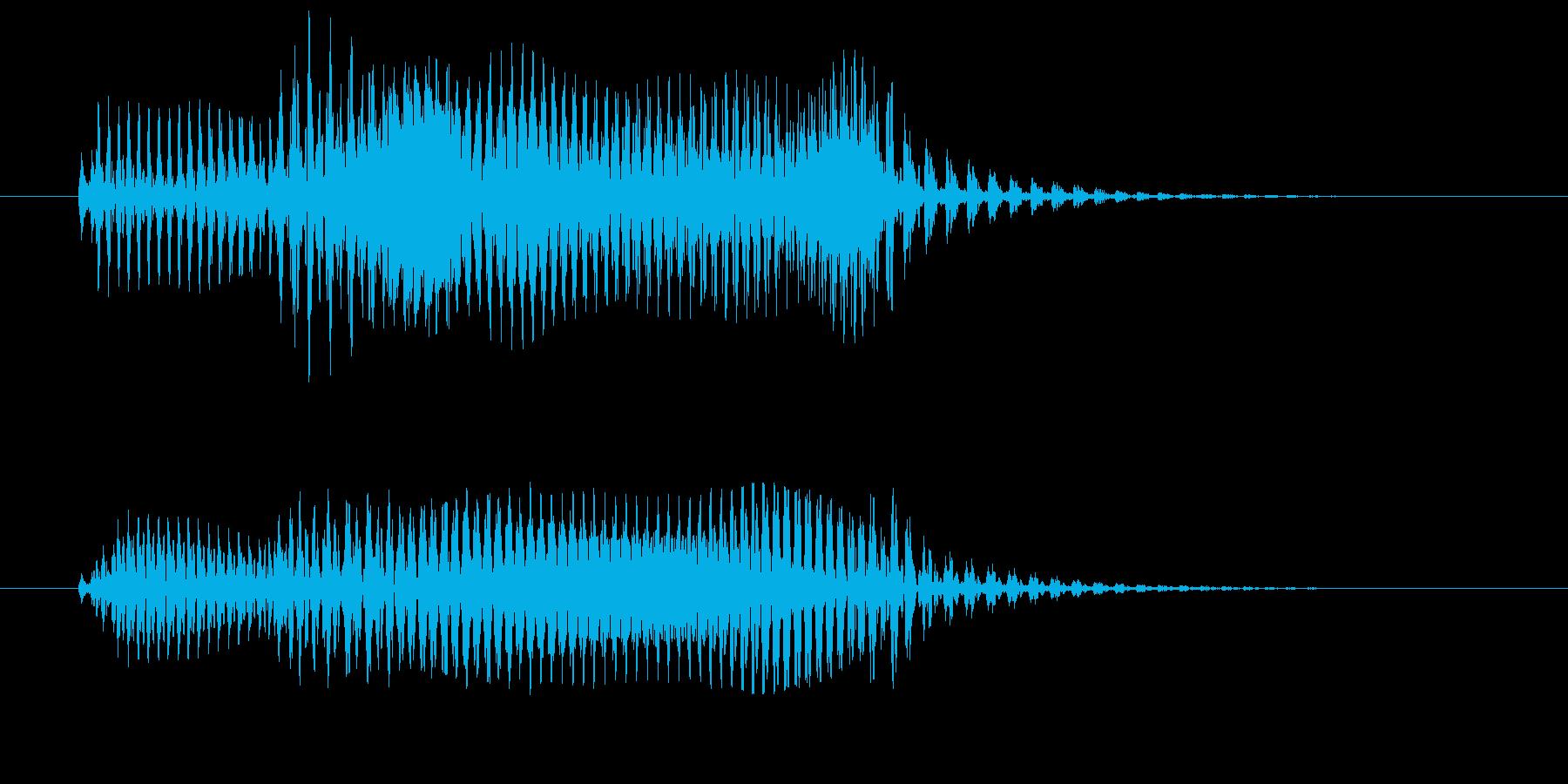 動作キャンセル向け電子音(テレードン)の再生済みの波形