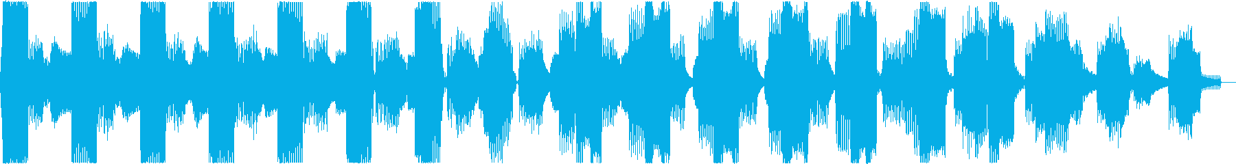様々な着信音が次々になり続ける効果音2の再生済みの波形