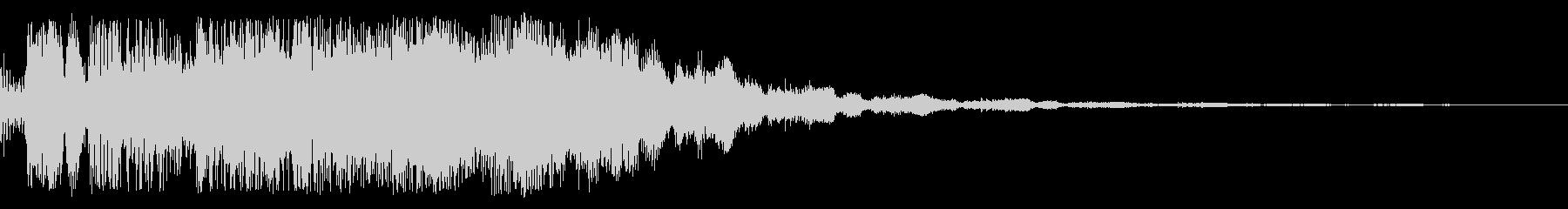 ステータスアップ時のサウンドの未再生の波形